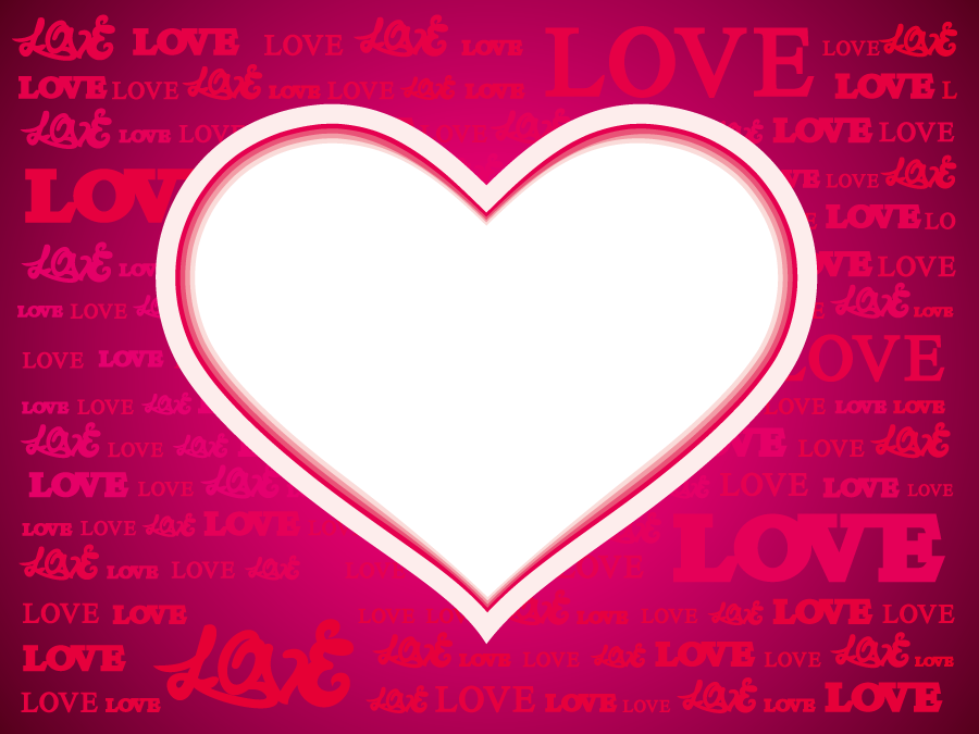 フリーイラスト ハートと「LOVE」の背景