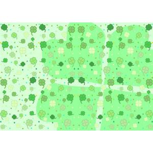 フリーイラスト, ベクター画像, EPS, 背景, 植物, 植物, 雑草, クローバー(シロツメクサ), 四つ葉のクローバー, 緑色(グリーン)