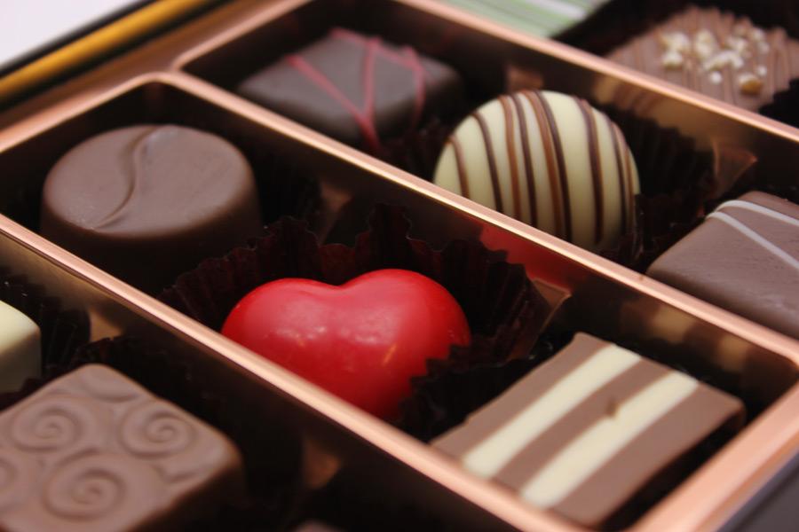 フリー写真 バレンタインチョコのアソート