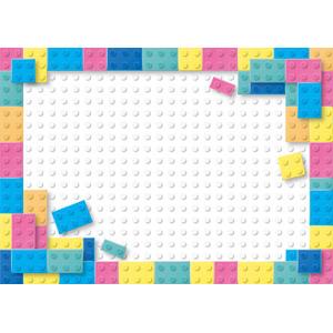 フリーイラスト, ベクター画像, AI, フレーム, 囲みフレーム, 玩具(おもちゃ), ブロック(玩具)
