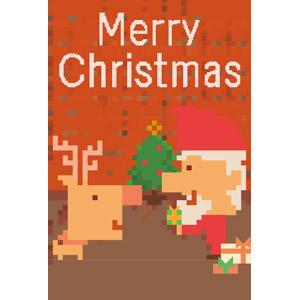フリーイラスト, ベクター画像, AI, 背景, 年中行事, クリスマス, 12月, サンタクロース, トナカイ, クリスマスプレゼント, クリスマスツリー, メリークリスマス