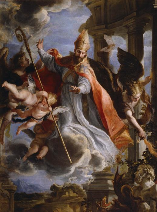 フリー絵画 クラウディオ・コエーリョ作「聖アウグスティヌスの勝利」