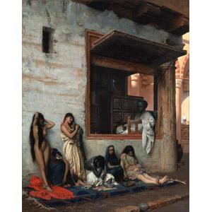 フリー絵画, ジャン=レオン・ジェローム, 歴史画, 奴隷, 奴隷市場