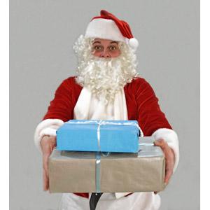 フリー写真, 人物, 年中行事, クリスマス, 12月, 冬, サンタクロース, クリスマスプレゼント