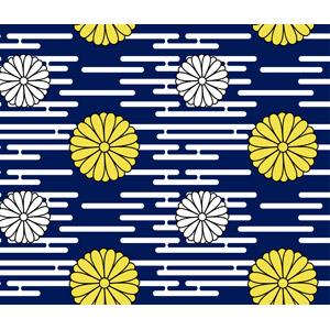 フリーイラスト, ベクター画像, AI, 背景, 和柄, 菊花紋章