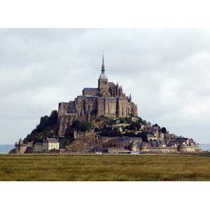 フリー写真, 風景, 建造物, 建築物, モン・サン=ミシェル, 修道院, 世界遺産, フランスの風景
