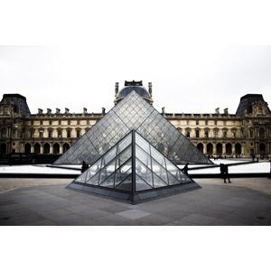 フリー写真, 風景, 建造物, 建築物, 博物館(美術館), ルーブル美術館, ルーヴル・ピラミッド, フランスの風景, パリ
