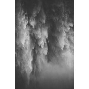 フリー写真, 風景, 自然, 滝, 水, アメリカの風景, ワシントン州, モノクロ