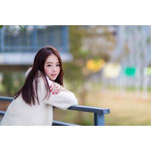 フリー写真, 人物, 女性, アジア人女性, 女性(00121), 中国人, 振り返る