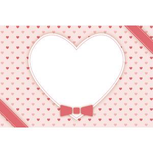 フリーイラスト, ベクター画像, EPS, 背景, メッセージフレーム, メッセージカード, ハート, 年中行事, 2月, バレンタインデー