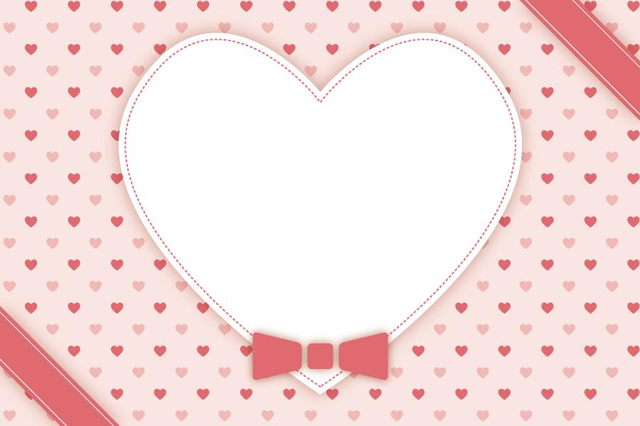 フリーイラスト バレンタインデーのメッセージカード