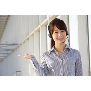 フリー写真, 人物, 女性, アジア人女性, 日本人, 女性(00025), 職業, 仕事, OL(オフィスレディ), コールセンター(テレオペ), ヘッドセット, 案内する, ブラウス