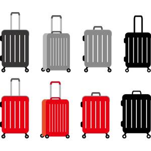 フリーイラスト, ベクター画像, AI, 旅行かばん, 旅行(トラベル), スーツケース, 海外旅行