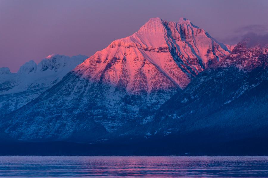 フリー写真 夕暮れのキャノン・マウンテンの風景
