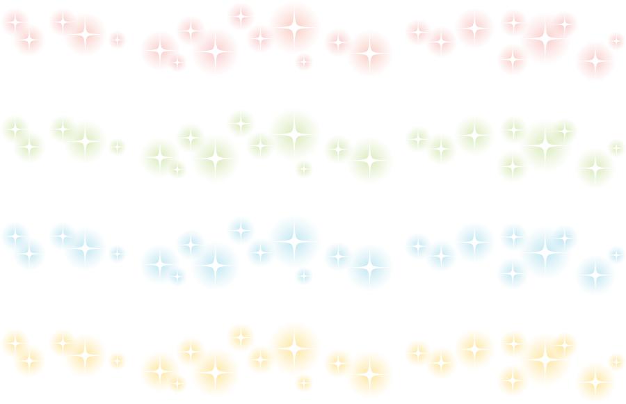 フリーイラスト 4種類のキラキラの光のラインのセット
