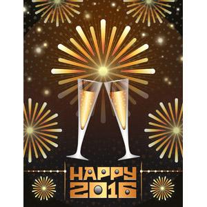 フリーイラスト, ベクター画像, SVG, 背景, 花火, 打ち上げ花火, 飲み物(飲料), お酒, シャンパン, シャンパングラス, 乾杯