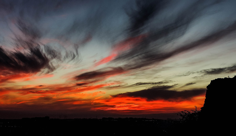 フリー写真 夕空の風景