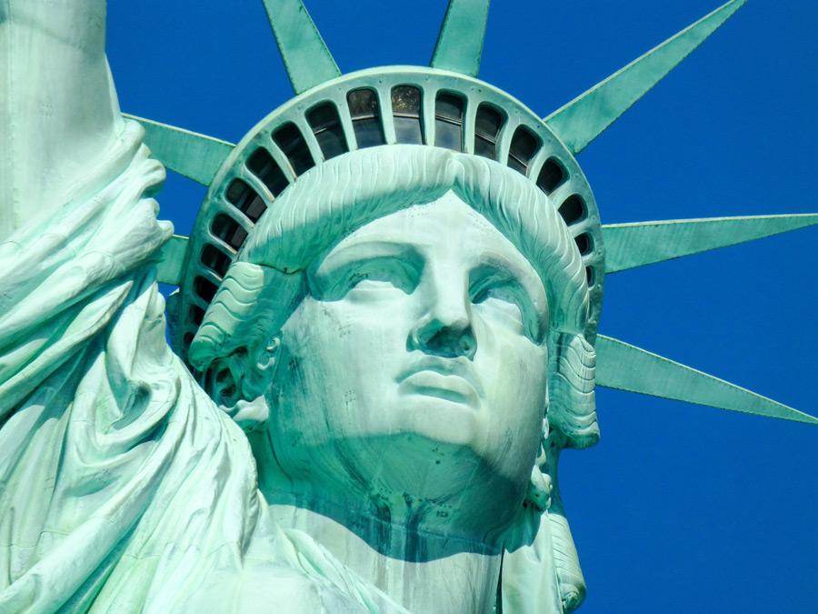 フリー写真 自由の女神像の顔のアップ