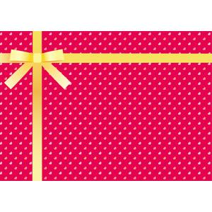 フリーイラスト, ベクター画像, AI, 背景, リボン, 蝶リボン, ラッピングリボン, ハート, 年中行事, 2月, バレンタインデー, プレゼント