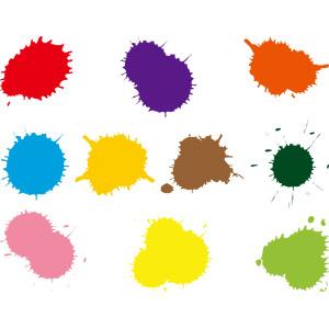 フリーイラスト, ベクター画像, AI, ペンキ, 塗料, 飛沫(しぶき), インク