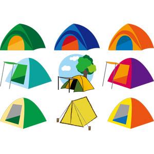 フリーイラスト, ベクター画像, AI, テント, キャンプ, アウトドア, キャンプ用品, レジャー