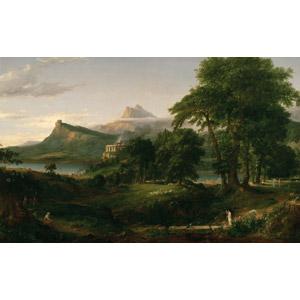 フリー絵画, トマス・コール, 帝国の推移, 牧歌(パストラル), 牧畜, 山, 樹木