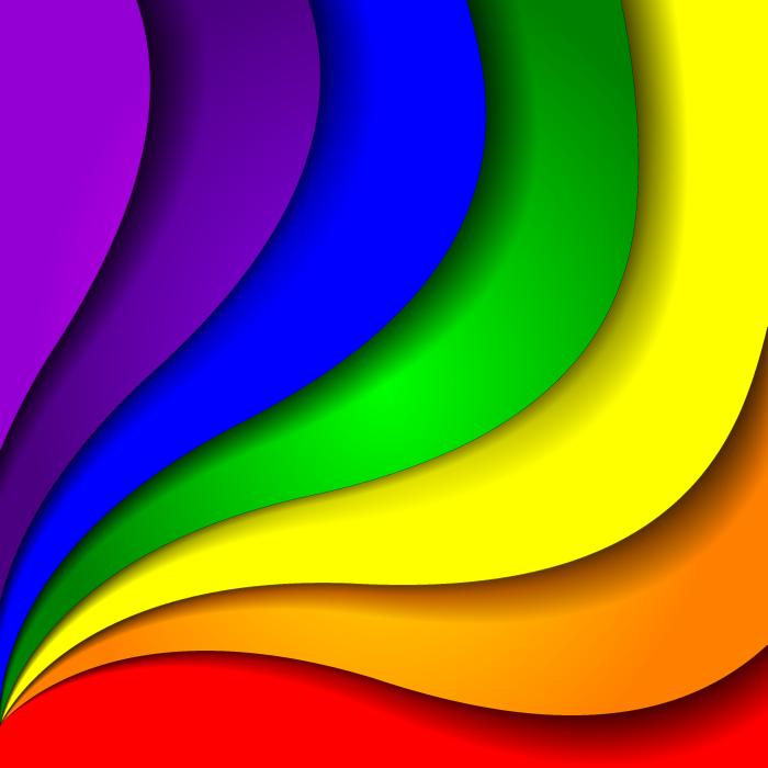 フリーイラスト カラフルな虹の背景