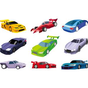 フリーイラスト, ベクター画像, AI, 乗り物, 自動車, スポーツカー, レーシングカー