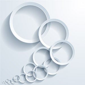 フリーイラスト, ベクター画像, AI, 背景, 抽象イメージ, 輪っか(リング), 白色(ホワイト)