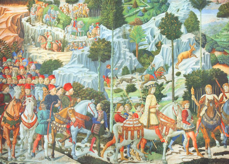 フリー絵画 ベノッツォ・ゴッツォリ作「東方三博士の旅」