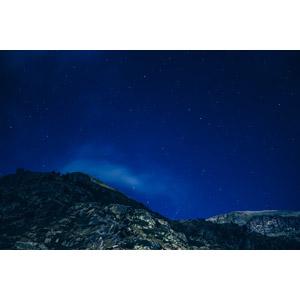 フリー写真, 風景, 自然, 山, 夜, 夜空, 星(スター), アンドラ