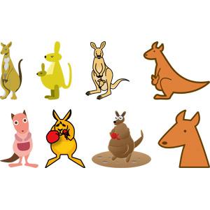 フリーイラスト, ベクター画像, AI, 動物, 哺乳類, カンガルー