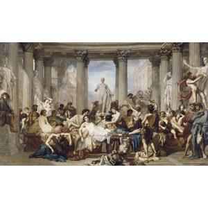 フリー絵画, トマ・クチュール, 歴史画, 古代ローマ, アメリカの風景, 彫像