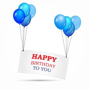 フリーイラスト, ベクター画像, AI, 背景, 誕生日(バースデー), ハッピーバースデー, 風船, メッセージカード