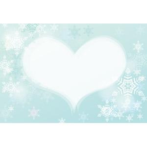 フリーイラスト, ベクター画像, EPS, 背景, フレーム, ハートフレーム, ハート, 雪の結晶