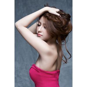 フリー写真, 人物, 女性, アジア人女性, 女性(00136), ベトナム人, 髪の毛を触る