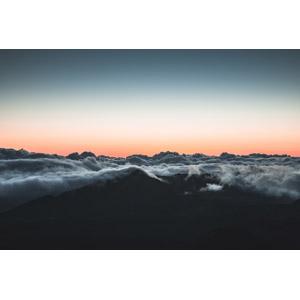 フリー写真, 風景, 自然, 山, 雲, 雲海, 朝焼け, 早朝