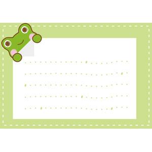 フリーイラスト, ベクター画像, AI, 背景, メッセージフレーム, メッセージカード, 動物, 両生類, 蛙(カエル)
