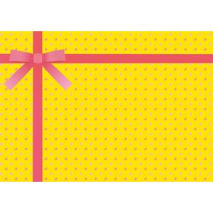 フリーイラスト, ベクター画像, AI, 背景, リボン, 蝶リボン, ラッピングリボン, ハート, プレゼント, 黄色(イエロー)