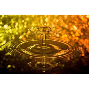 フリー写真, 背景, 水, 水滴(雫), 波紋, 玉ボケ