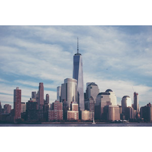 フリー写真, 風景, 建造物, 建築物, 高層ビル, 都市, 街並み(町並み), ワン・ワールドトレードセンター, アメリカの風景, ニューヨーク