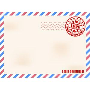 フリーイラスト, ベクター画像, EPS, 背景, フレーム, 囲みフレーム, 手紙, エアメール, 郵便