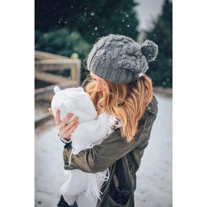 フリー写真, 人物, 親子, 母親(お母さん), 子供, 赤ちゃん, ニット帽, 雪, 冬