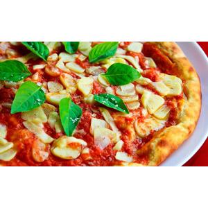 フリー写真, 食べ物(食料), 料理, ピザ, イタリア料理, ファーストフード, パン, にんにく(ニンニク)