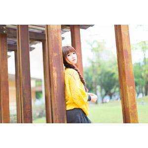 フリー写真, 人物, 女性, アジア人女性, 喬喬(00135), 中国人, セーター, 三つ編み