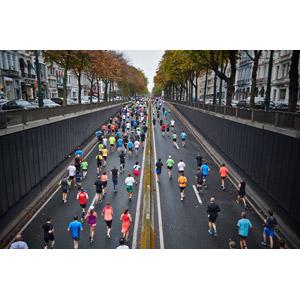 フリー写真, 人物, 人込み(人混み), 運動, 走る, マラソン, 道路, ベルギーの風景