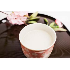 フリー写真, 飲み物(飲料), お酒, 甘酒, 桜(サクラ)