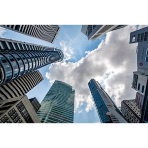 フリー写真, 風景, 建造物, 建築物, 高層ビル, 雲, シンガポールの風景
