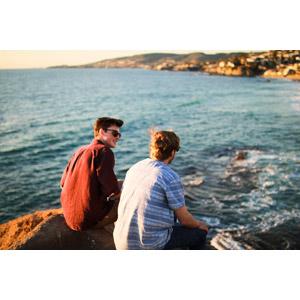 フリー写真, 人物, 男性, 外国人男性, 友達, サングラス, 人と風景, 海岸, 海, アメリカ人