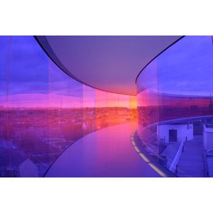 フリー写真, 風景, 建造物, 建築物, 博物館(美術館), 展望台, アロス・オーフス美術館, デンマークの風景, 街並み(町並み)